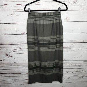 Lauren Ralph Lauren Wool Striped Wrap Skirt Size 4